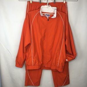 Russel Athletics Team Issue warmup suit orange